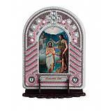 Набір для вишивки бісером з рамкою-киотом Нова Слобода ВК1021 Хрещення Господнє, фото 2