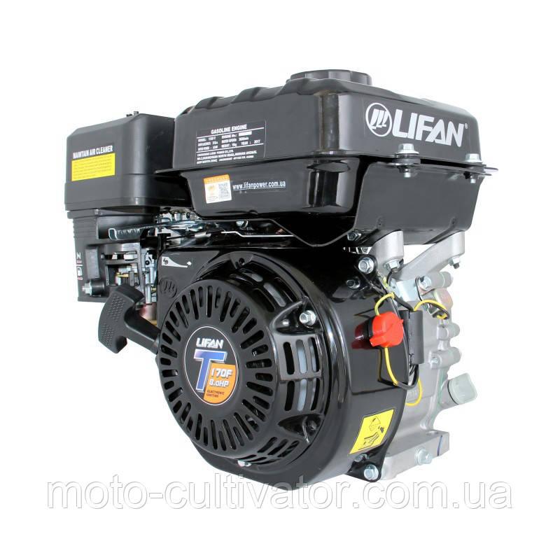 Бензиновый двигатель LIFAN LF170F-T вал Ø 20 мм под шпонку