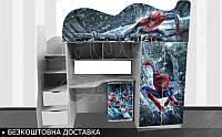 Кровать чердак Человек Паук Шок Драйв 2150х1800х836 + ПОДАРОК*