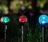 Газонный светильник 8шт/упак на солнечной батарее, шар RGB(смена цвета)