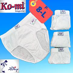 Мужские трусы-плавки Ko-Mi хлопок Турция белые размер 8-L,20011710