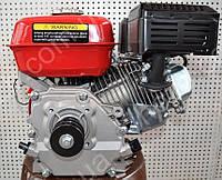 Двигатель бензиновый 168F 7 л.с вал 19 мм шпонка + шкив 2-х ручейковый профиль А
