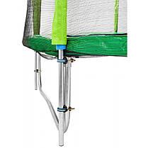 Батут Atleto 404 см з подвійними ногами з сіткою зелений (2 місця), фото 3