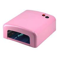 UV Лампа для гелевого наращивания 36W 818 (светло-розовая)