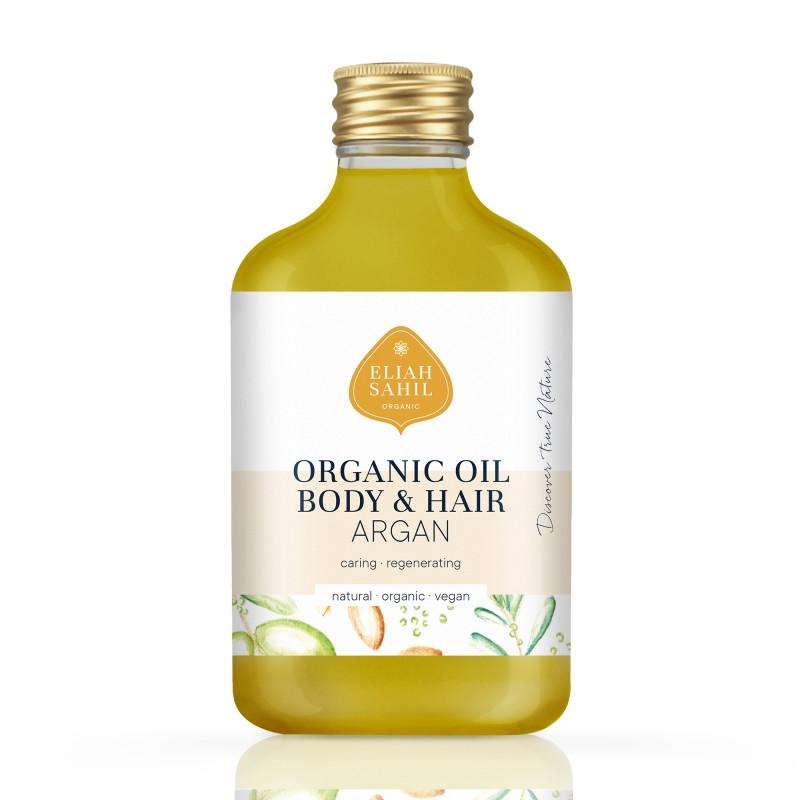 """Масло для тела и волос """"Аргания"""" антивозрастное органическое 100 мл Eliah Sahil"""