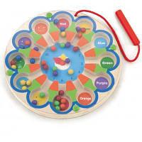 Развивающая игрушка Viga Toys Магнитный лабиринт Часы (59980)