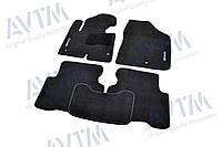 Коврики в салон ворсовые для Hyundai Santa Fe (2012-) /Чёрные Premium BLCLX1236, фото 1