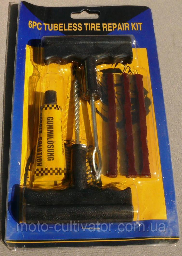 Рем. комплект для без камерки (шнурки с клеем и 2 шила)