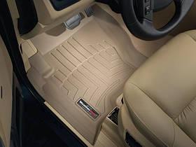 Килими гумові WeatherTech Range Rover Discovery 2004-2009 передні бежеві ( без гачків )