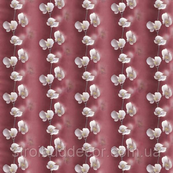 Обои бумажные простые Эксклюзив 034-10 орхидея бордовая  0,53*10 м