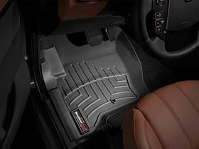 Килими гумові WeatherTech Range Rover Discovery 2010-2017 передні чорні ( з гачками )