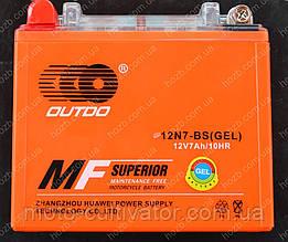 Аккумулятор 12V 7Аh гелевый (135x75x125, mod:12N7-BS  OUTDO