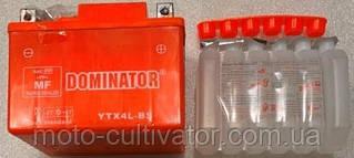 Аккумулятор 12N4  DOMINATOR 12V/4Ah заливной  оранжевый  86x70x114