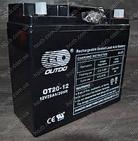 Аккумулятор 12V 20Аh гелиевый (180x75x160, черный, mod:(ОТ-20-12) OUTDO, фото 1