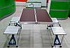 Розкладний стіл для пікніка з стільцями. Алюмінієвий стіл коричневий