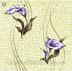Шпалери паперові прості Ексклюзив 063-05 квіти, зелені 0,53*10 м