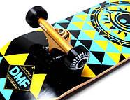 """Скейтборд деревянный Fish """"Tri"""" оригинал, матовый алюминиевый подвес, фото 4"""
