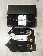 Мужские носки в фирменной подарочной упаковке Calvin Klein - 12 шт коробке