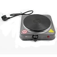 Плита кухонна настільна електрична дискова Domotec 1500 Вт, фото 1
