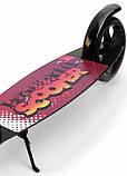 Двоколісний Самокат Складаний Великі Колеса SCOOTER чорний від 5 років SCALE SPORTS, фото 3