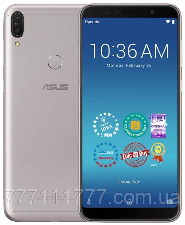 Телефон асус с большим дисплеем, мощной батареей на 2 сим карты Asus ZenFone Max Pro M1 ZB602KL silver 4/64GB