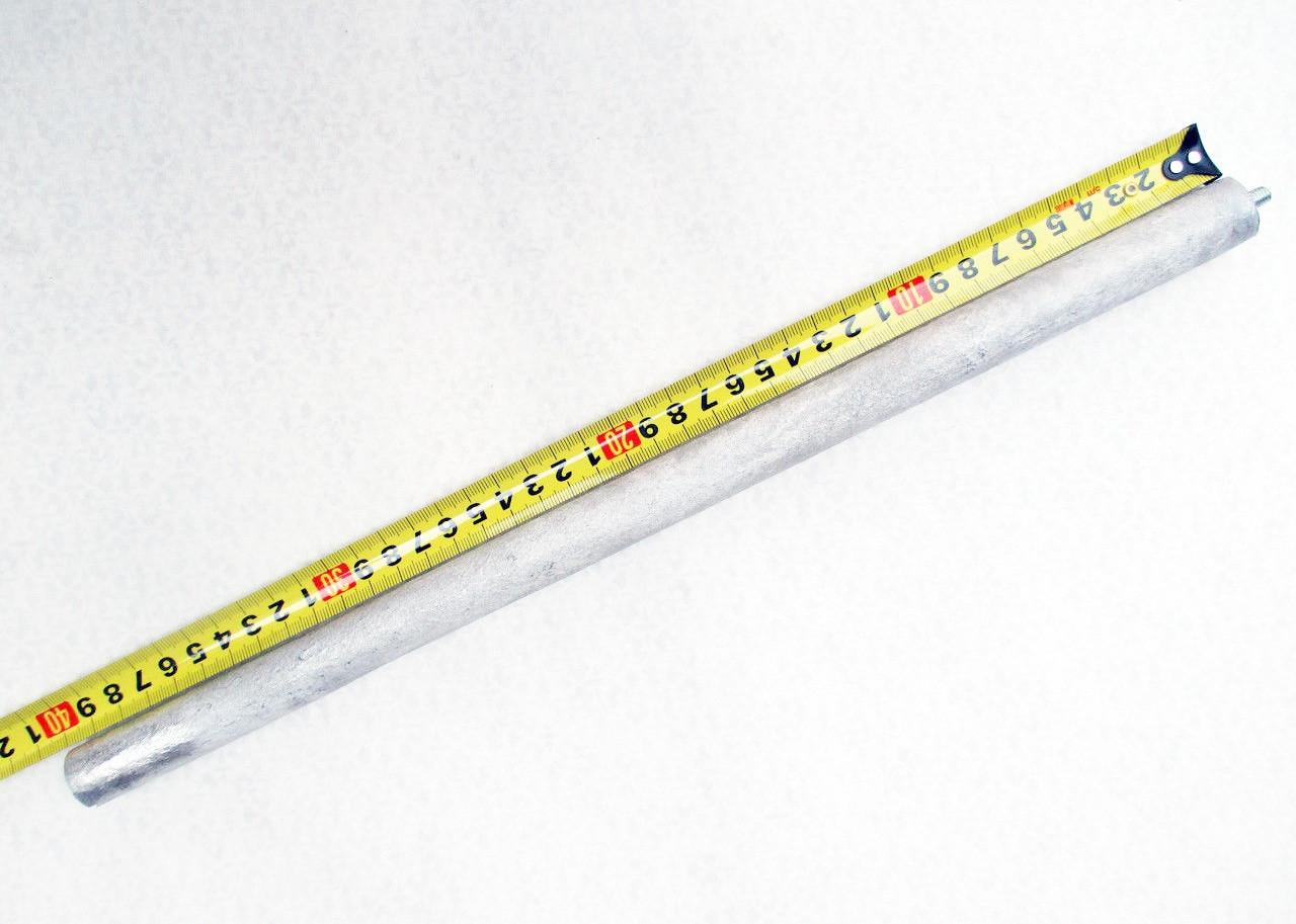 Анод магниевый итальянский диаметр 21мм L400 шпилька - м8