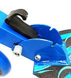 Двухколесный Самокат SCOOTER, детский, Складной Большие Колеса, синий от 5 лет SCALE SPORTS, фото 3