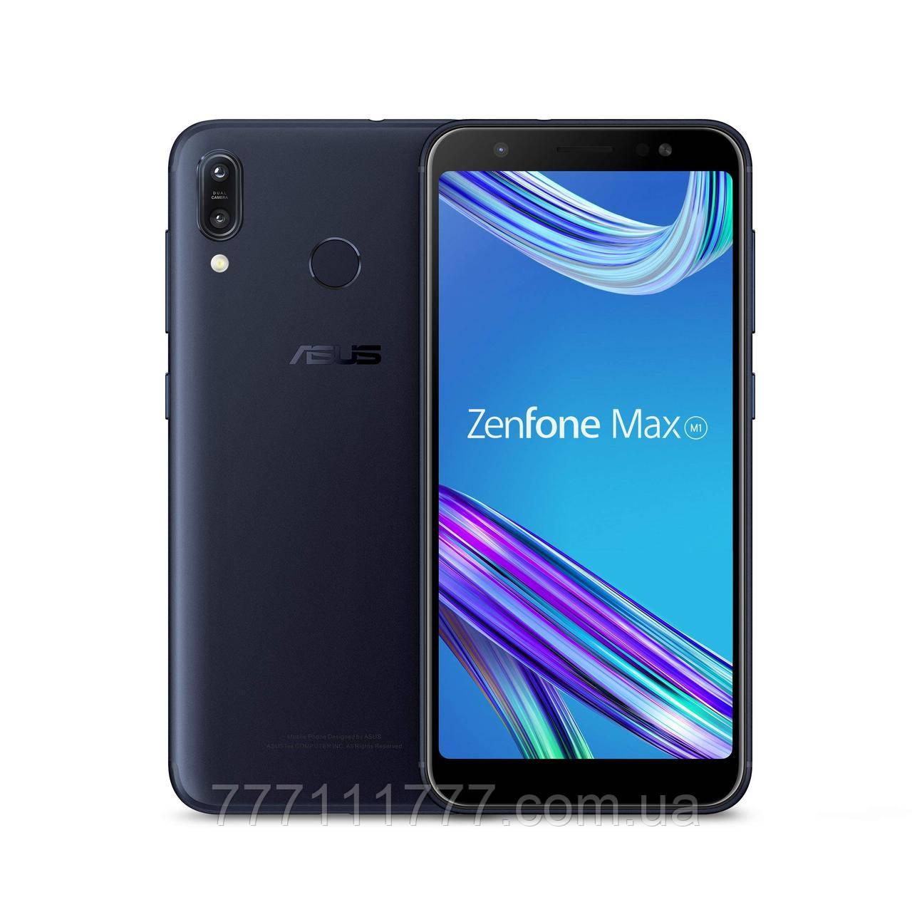 Смартфон черный с мощной батареей, большим экраном с двойной камерой Asus ZenFone Max M1 ZB555KL 2/16Gb black