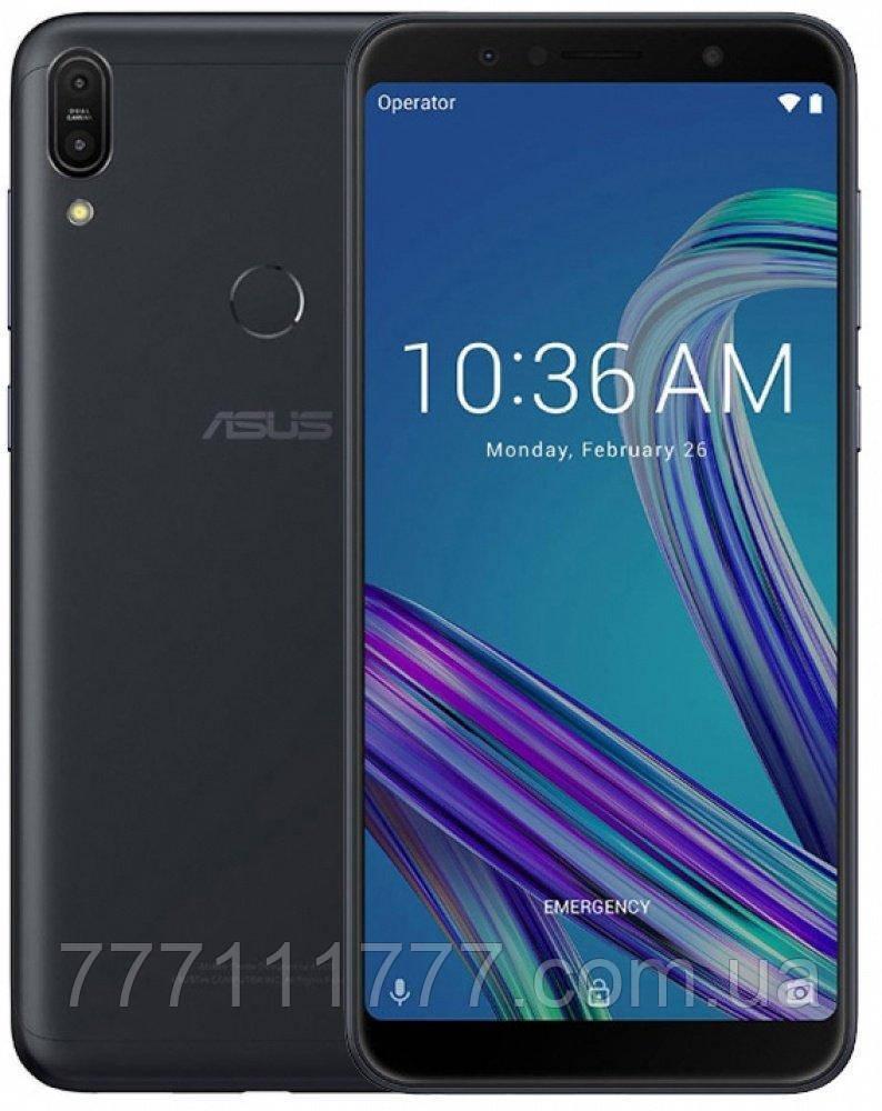 Смартфон с большим дисплеем, мощной батареей на 2 сим карты Asus ZenFone Max Pro M1 ZB602KL black 4/128Gb NFC