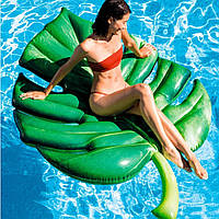 Пляжный надувной матрас Intex 58782 «Лист», 213*142 см