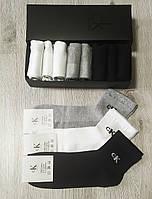 Мужские носки в фирменной подарочной упаковке Calvin Klein - 9 шт сеточка коробке кельвин кляйн