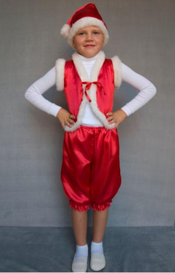Карнавальный костюм Гномик для детей 3-6 лет красный