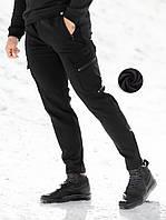 Теплые брюки карго Bezet SoftShel черные (только Xl), фото 1