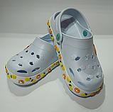Кроксы детские DAGOStyle белые и синие, фото 5