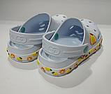 Кроксы детские DAGOStyle белые и синие, фото 3