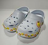 Кроксы детские DAGOStyle белые и синие, фото 7