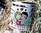 """Подарочный набор любимой """"Love is"""": пластиковая бутылка, игрушка-талисман зайка и консервированные носочки, фото 8"""
