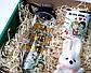 """Подарочный набор любимой """"Love is"""": пластиковая бутылка, игрушка-талисман зайка и консервированные носочки, фото 9"""