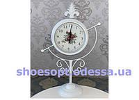 Настільні годинники в стилі Прованс білі