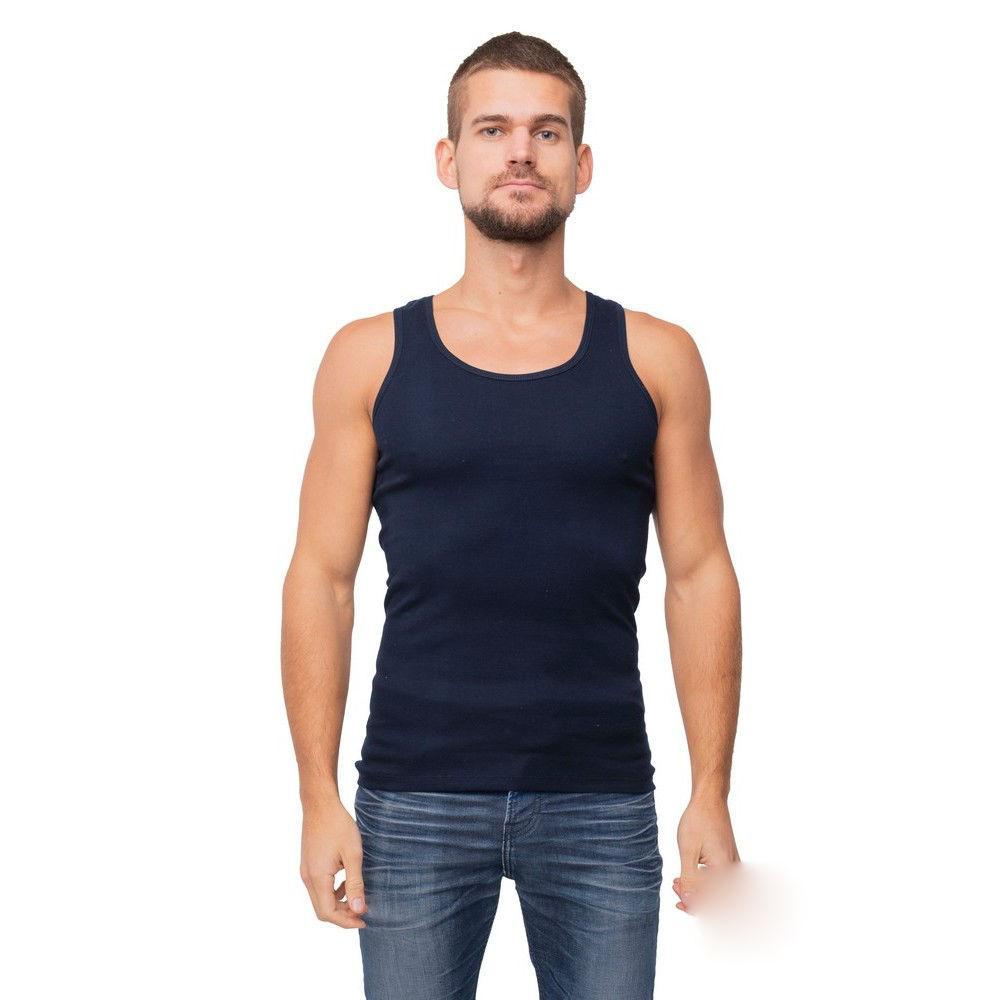 Майка мужская  цвет темно синий  размеры:  S-L