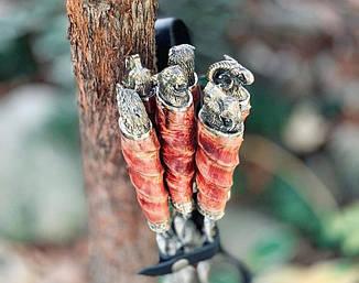 """Набор шампуров ручной работы с вилкой и ножом """"Хищная стая"""" в колчане, фото 2"""