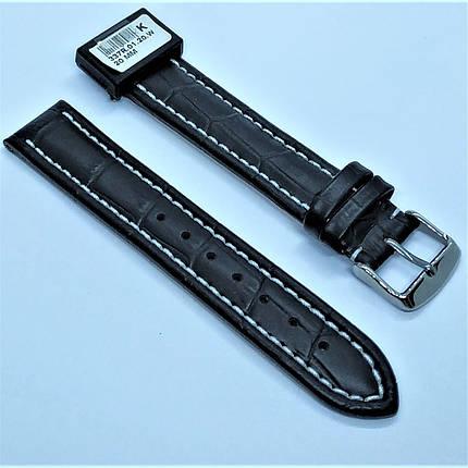 20 мм Кожаный Ремешок для часов CONDOR 337.20.01 Черный Ремешок на часы из Натуральной кожи, фото 2