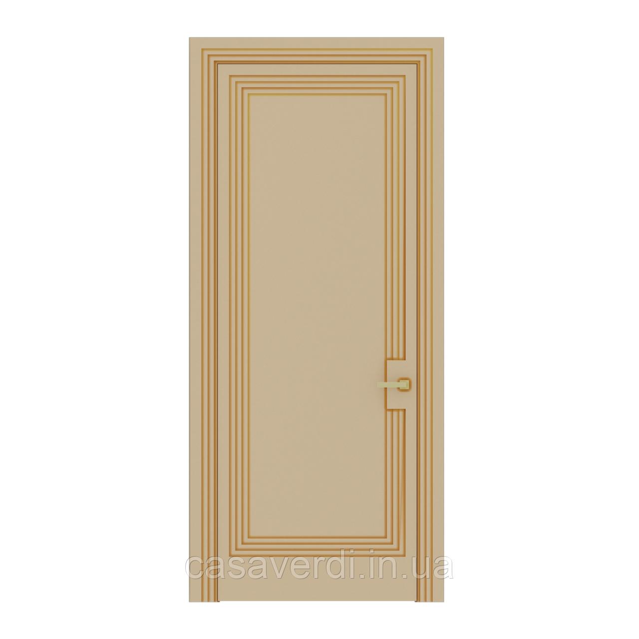 Межкомнатная дверь Casa Verdi Portale 4 МДФ песочно-желтая