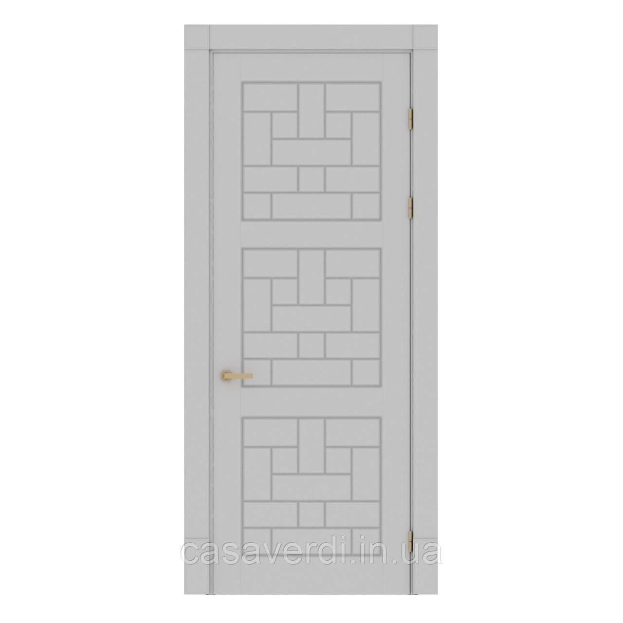 Межкомнатная дверь Casa Verdi Portale 6 МДФ светло-серая
