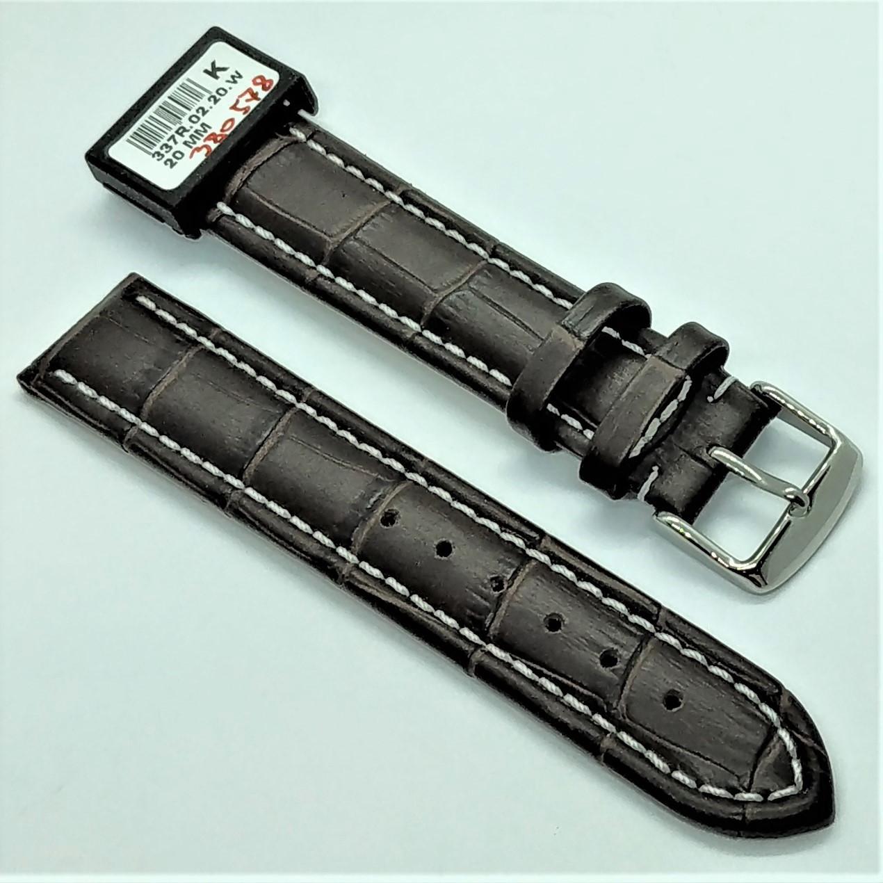 20 мм Кожаный Ремешок для часов CONDOR 337.20.02 Коричневый Ремешок на часы из Натуральной кожи