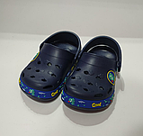 Кроксы детские DAGOStyle белые и синие, фото 2