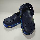 Кроксы детские DAGOStyle белые и синие, фото 4