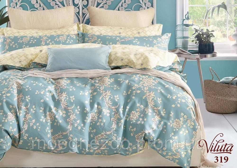 Полуторное постельное белье сатин Вилюта Viluta