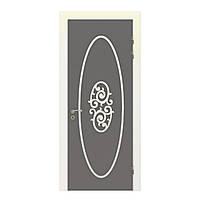 Межкомнатная дверь Casa Verdi Piazza 3 из ольхи серая с белым декором