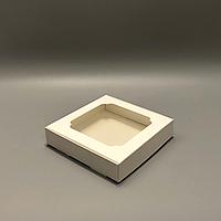 Коробка для пряников 150х150х30 мм (с окном) белая